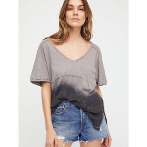 Free People | Sun Dial Thermal Tee in Grey Ombré